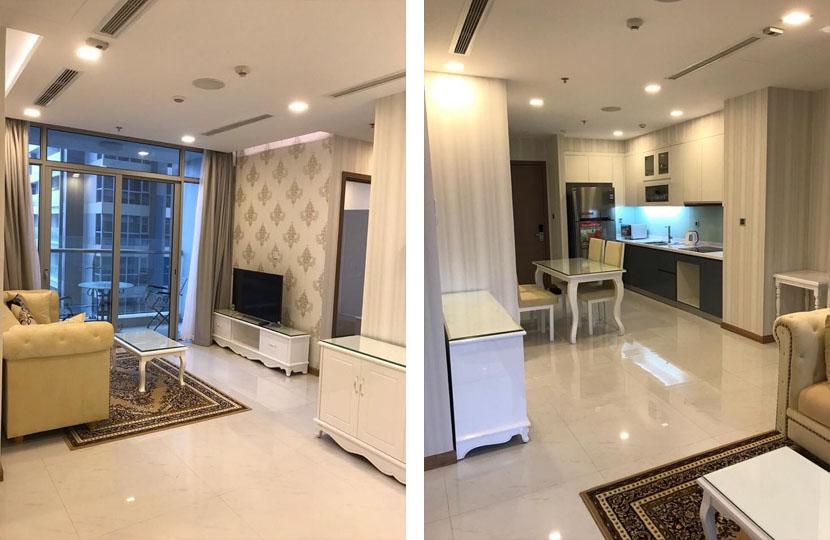 Tòa nhà Park 6 cho thuê 2PN Vinhomes có nội thất
