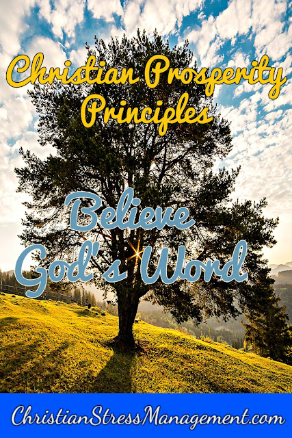 Christian Prosperity Principles: Believe God's Word