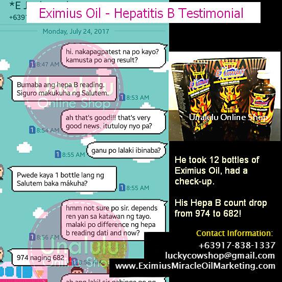 eximius oil hepatitis b testimonial