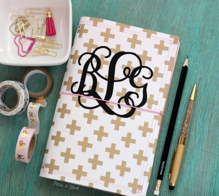 Make your own monogrammed fabric fauxdori