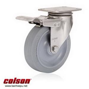 Bánh xe cao su càng bánh xe đẩy hàng inox | 2-5456-444-BRK4
