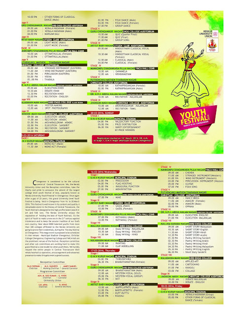 Kerala University Youth Festival 2016