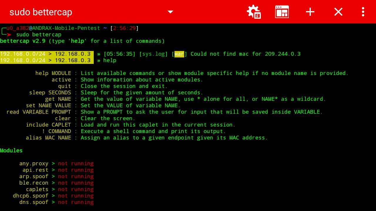cara hacking menggunakan terminal emulator android