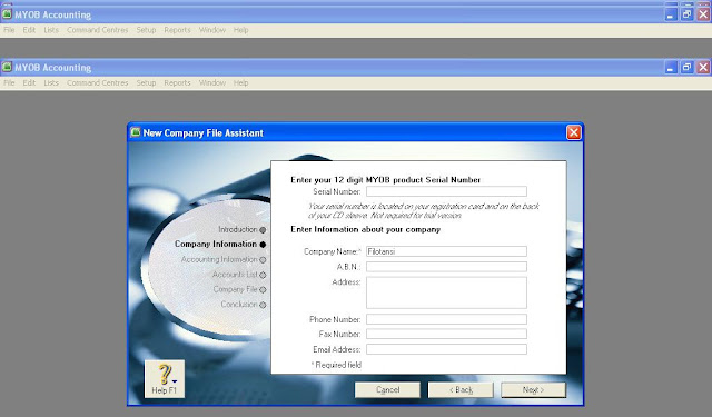 Membuat Data Perusahaan Baru di MYOB versi 18