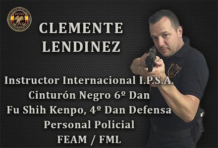 CELEMENTE LENDINEZ INSTRUCTOR INTERNACIONAL IPSA INTERNATIONAL POLICE AND SECURITY ASOCCIATION IPSA