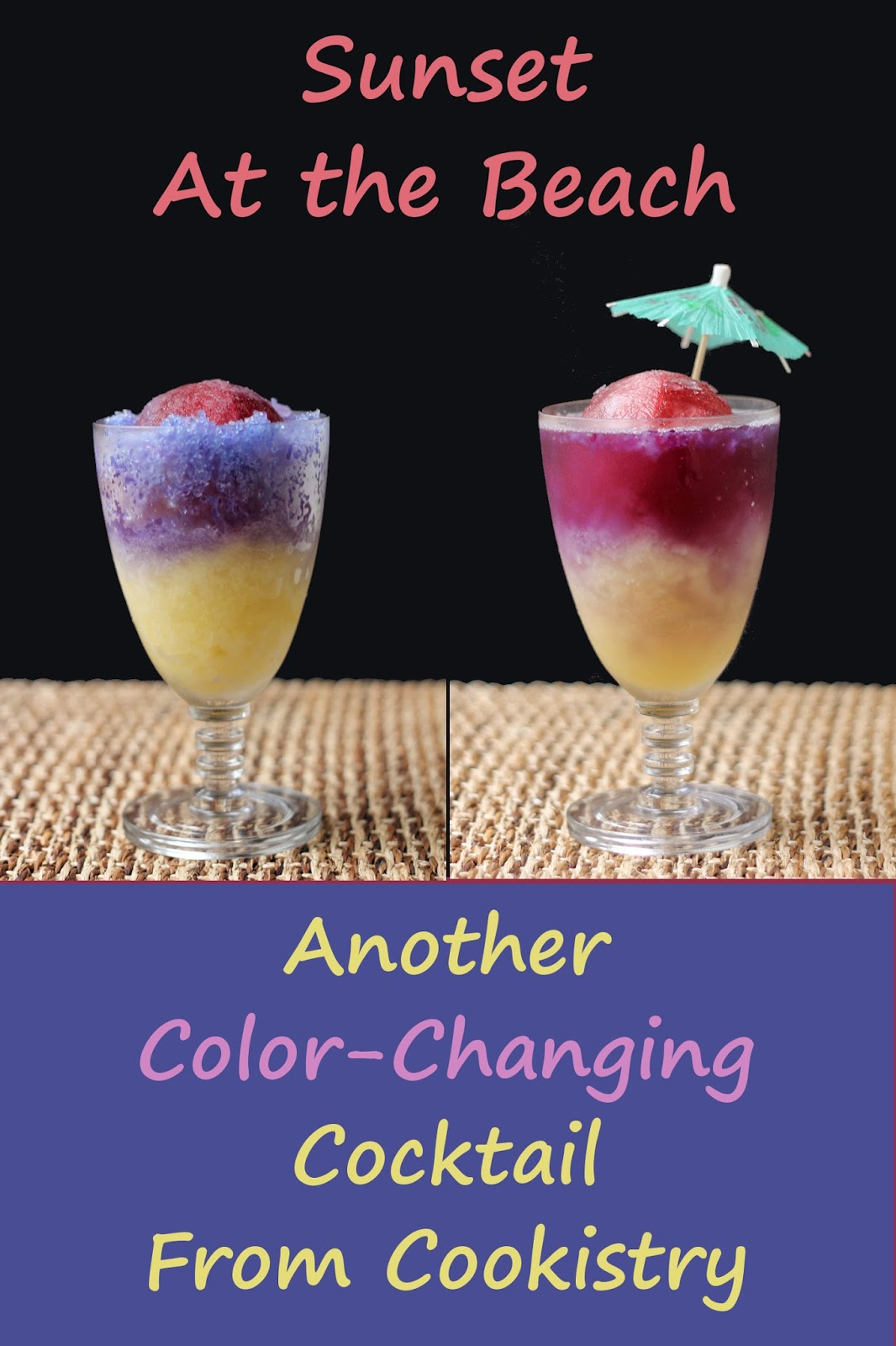 Just like a sunset on the water, you can watch the sun and sky change color in this cocktail