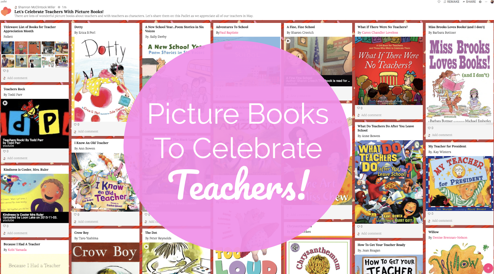 The Library Voice: Picture Books To Celebrate Teachers!
