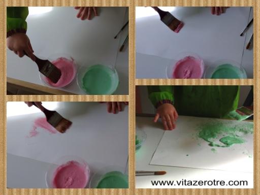 pittura con impasto farina