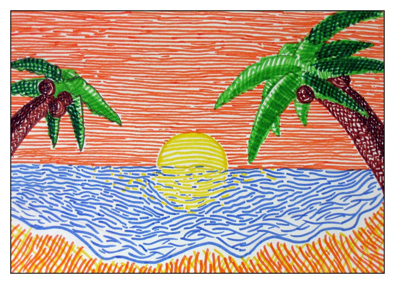 Dibujo De Lineas Paisaje: Acercamiento A Las Artes Visuales: Septiembre 2013