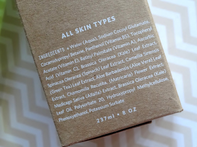 Youth To The People Age Prevention Cleanser Ingredients