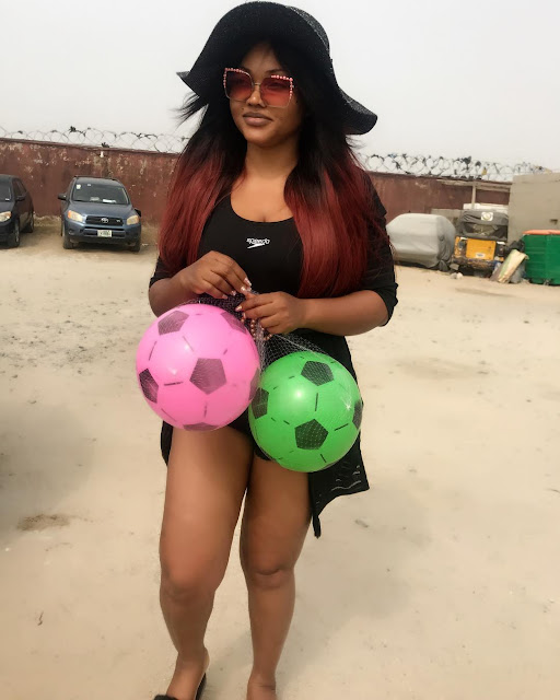 Mercy Aigbe flaunts beach body