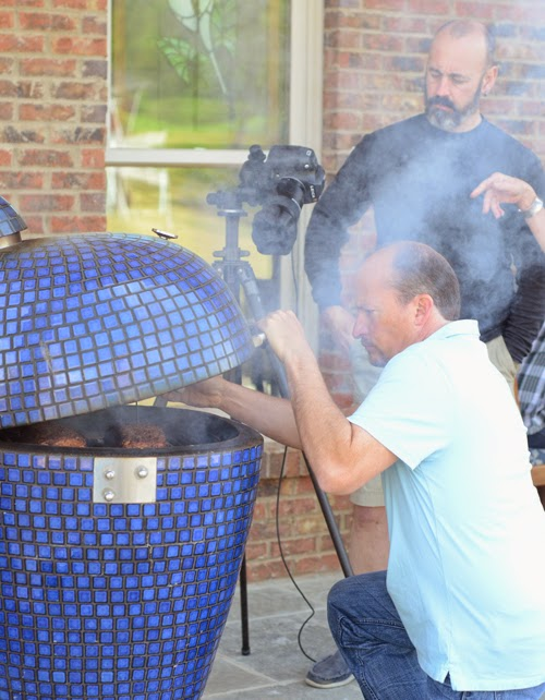 Chris Lilly using a kamado grill