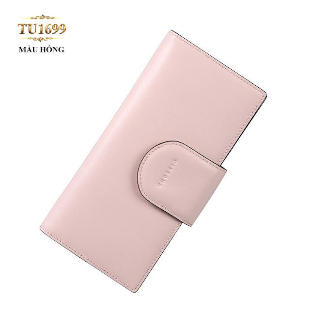 Chiếc Ví cầm tay Dissona cao cấp màu hồng phấn trẻ trung TU1699