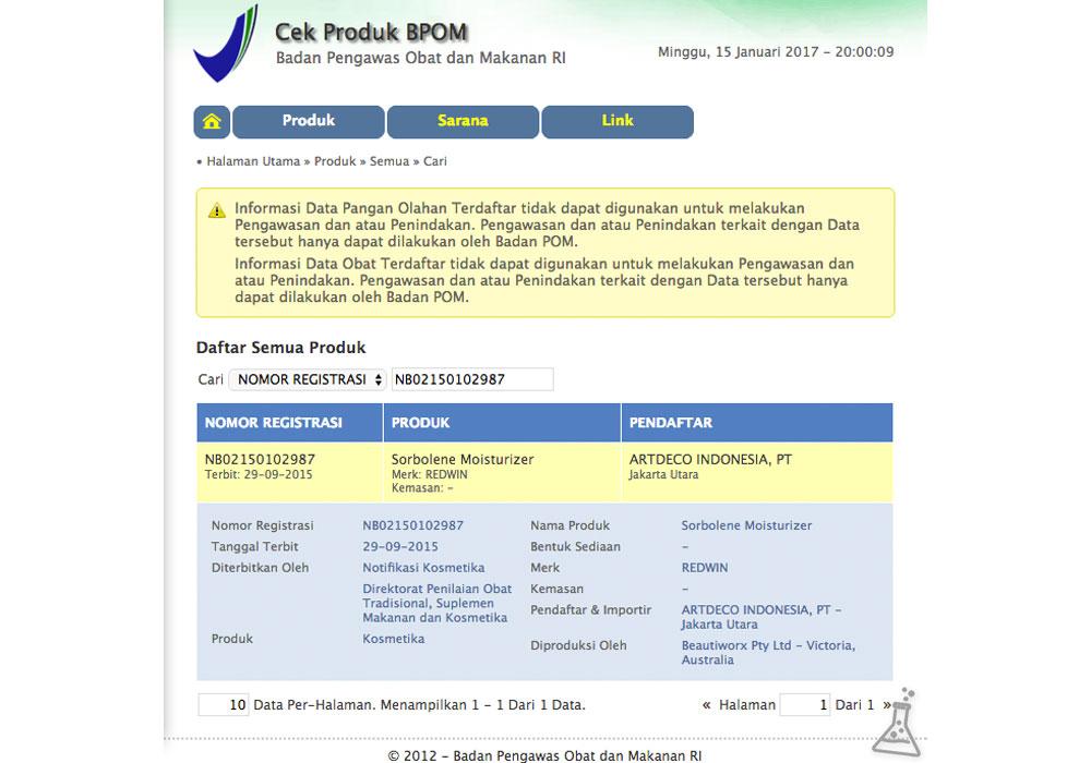 Redwin Sorbolene Moisturiser BPOM