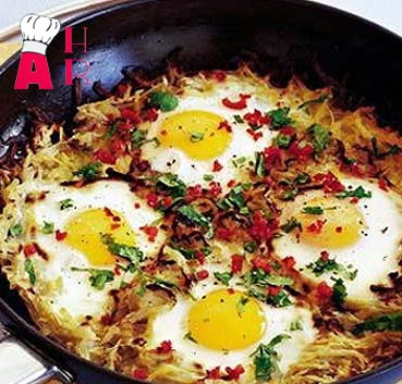 how to make healthy potato cake with chilli eggs easy recipe