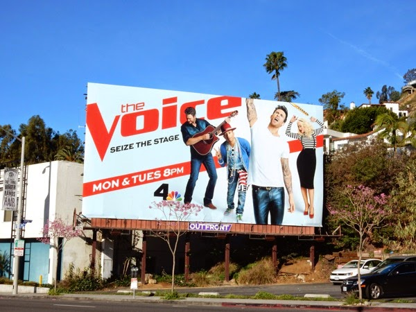 The Voice season 8 billboard Sunset Strip