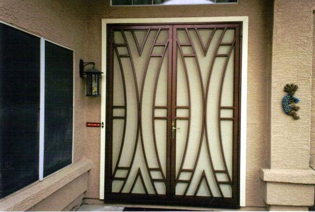 25 model desain pintu besi minimalis modern lipat  geser