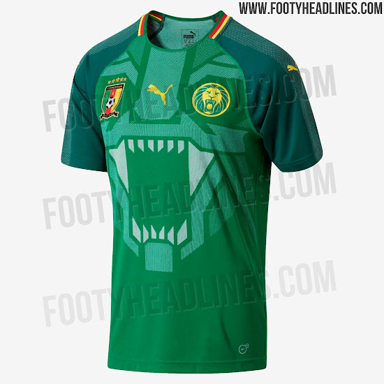 Cameroon 2018 Home Kit Revealed - Footy Headlines 304b96879