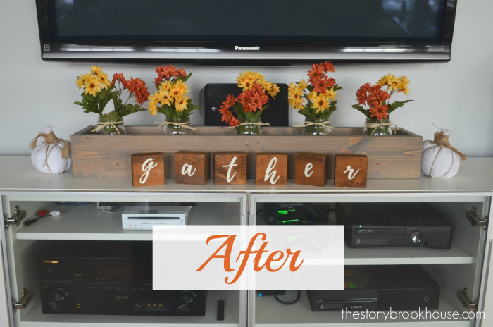 "After: DIY ""gather"" Letter Blocks"