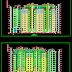 مشروع عمارة سكنية من 9 الى 10 طوابق اتوكاد dwg