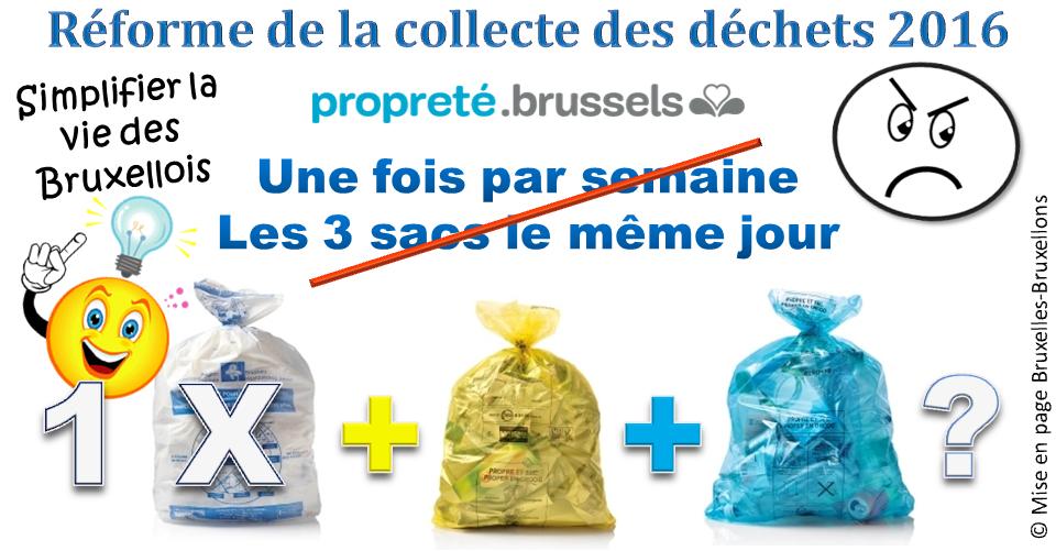 Collecte Des Sacs Bruxelles : Bruxelles bruxellons propret? r?forme des
