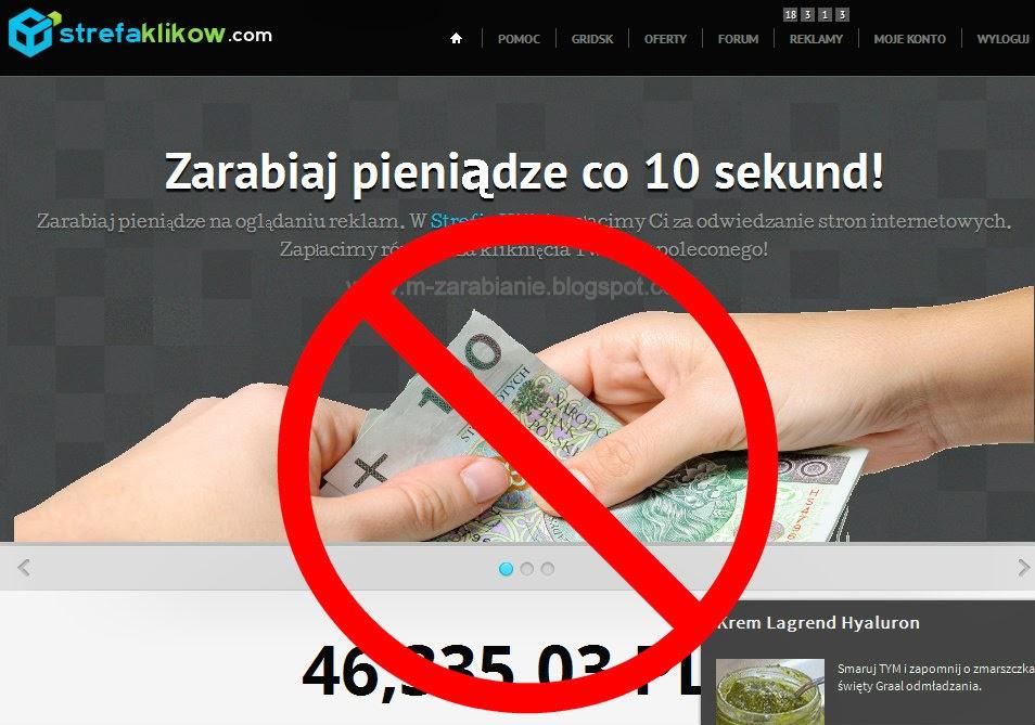 Strefaklikow.com, Clixarea.com, Streferia.pl - Czy strony płacą? Opinie, uwagi