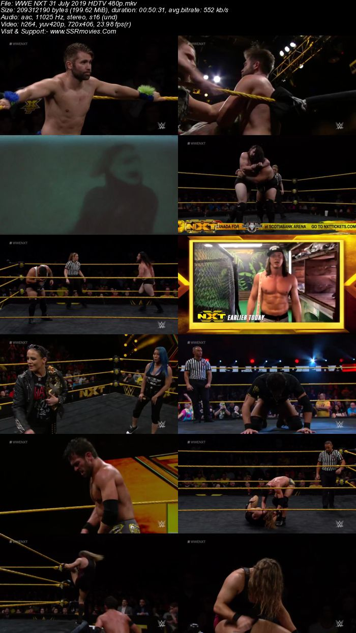 WWE NXT 31 July 2019 HDTV Full Show Download 480p 720p HDTV WEBRip