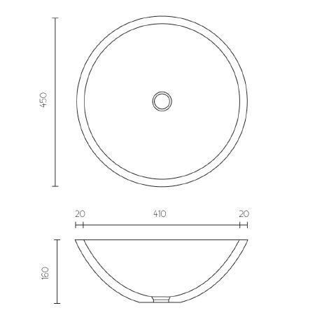 Modecor Basins: Apaiser Globe Above Counter Vessel Basin