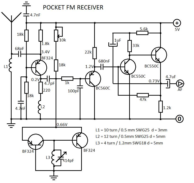 radio fm receiver circuit diagram tea5710