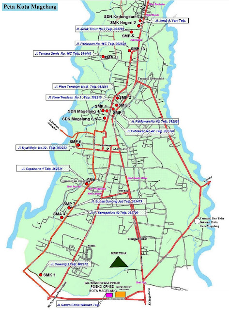 Peta Kota Magelang HD