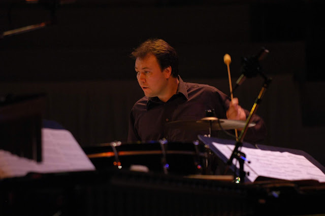 Tim Williams performing with Psappha (photo Brian Slater)