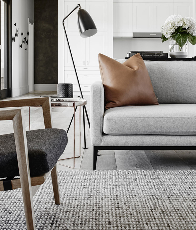 My scandinavian home an elegant understated modern farmhouse for Elegant farmhouse living room