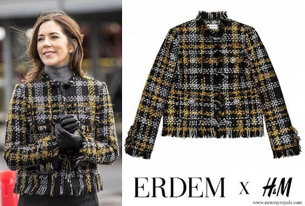 Princess Mary Erdem and H&M coat