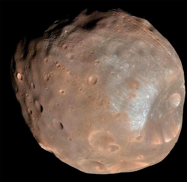 Fobos, lua de Marte - NASA - JPL-Caltech