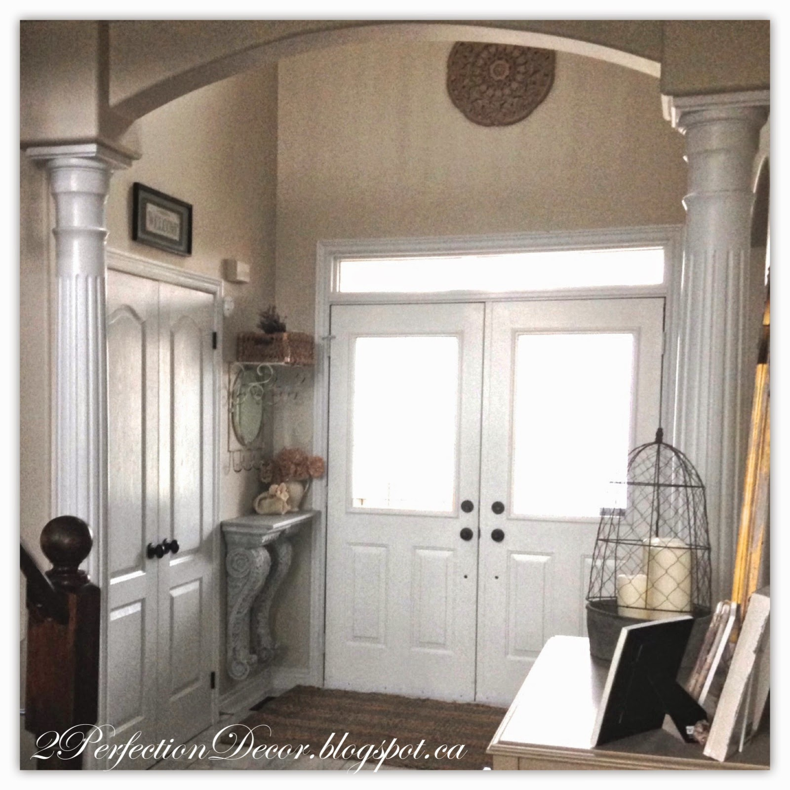 2perfection decor: our entryway foyer reveal