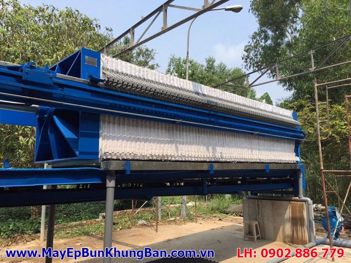 Sản xuất và lắp đặt máy ép bùn khung bản Việt Nam cho công trình khu công nghiệp, nhà máy
