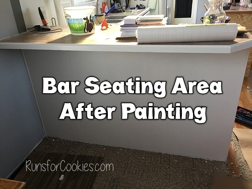 After painting bar seating area