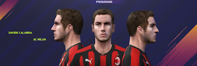 PES 6 Faces Davide Calabria by Gabo CR Facemaker