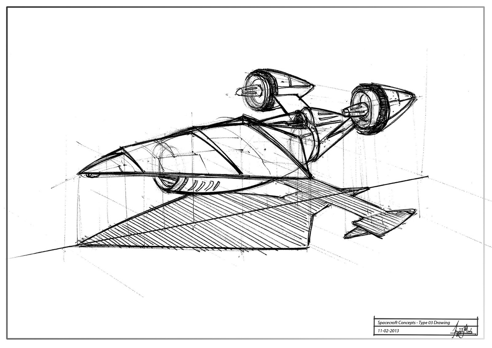 spacecraft drawing - photo #4