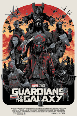 Guardians of the Galaxy Movie Poster Variant Variant Screen Print by Gabz x Grey Matter Art