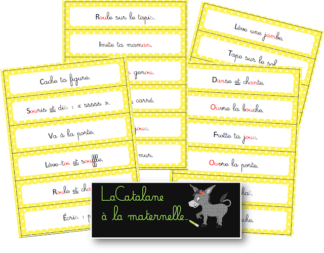 Phrases d'action 1 - tickets d'ordres (LaCatalane)