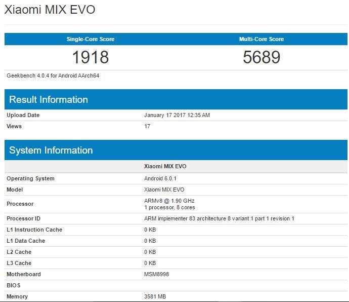 Comprar Xiaomi MIX EVO Preço