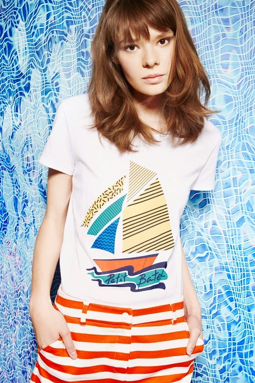 Petit Bateau SS15 sports luxe women's collection