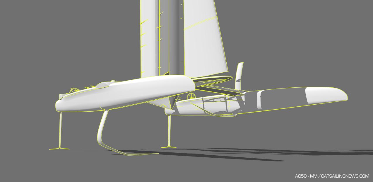 F50s upgrades preview over AC50s - Catamaran Racing , News & Design