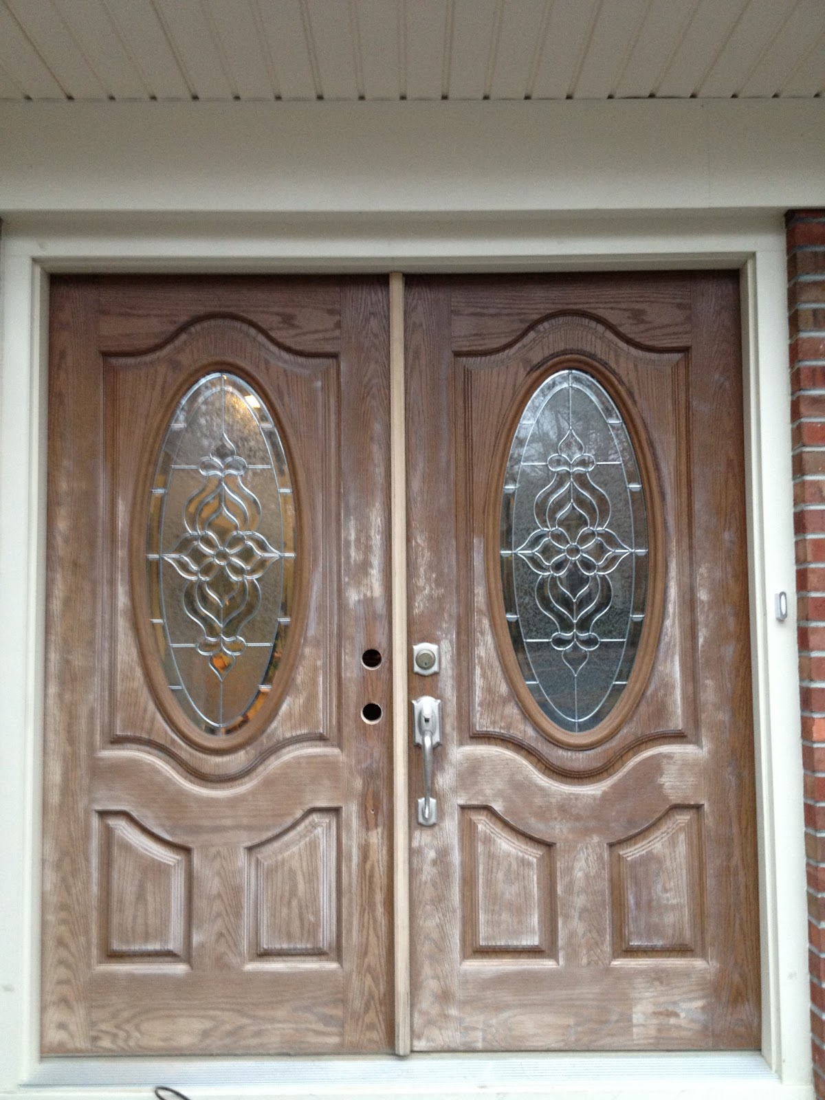Fascinating Paint Or Stain Fiberglass Front Door Photos Exterior