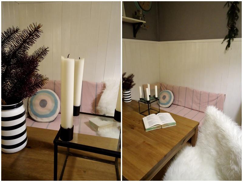 adwentowy świecznik scandi, dekoracja w kuchni