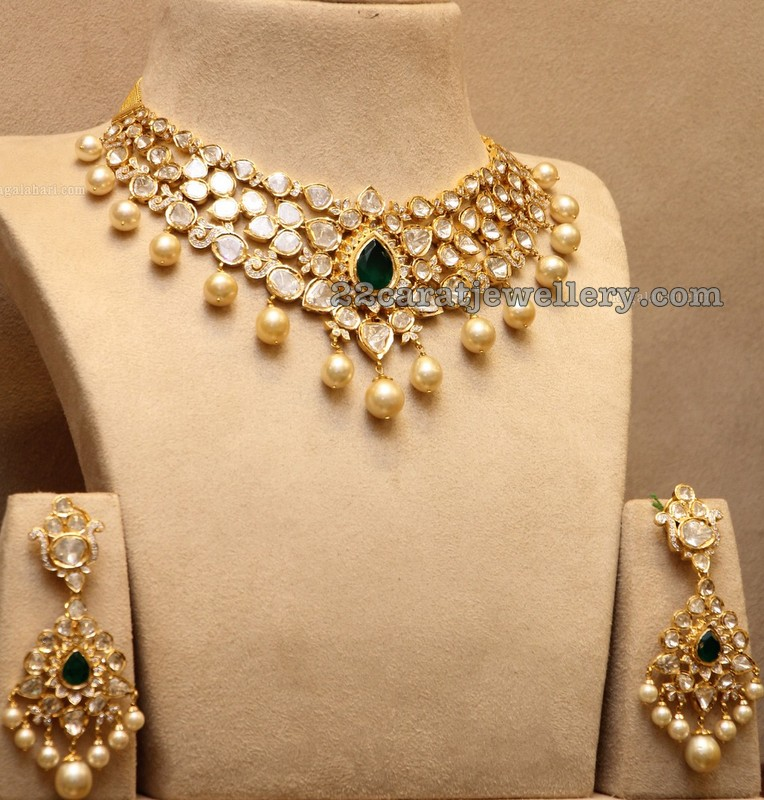 Pachi Necklace With Earrings Jewellery Designs