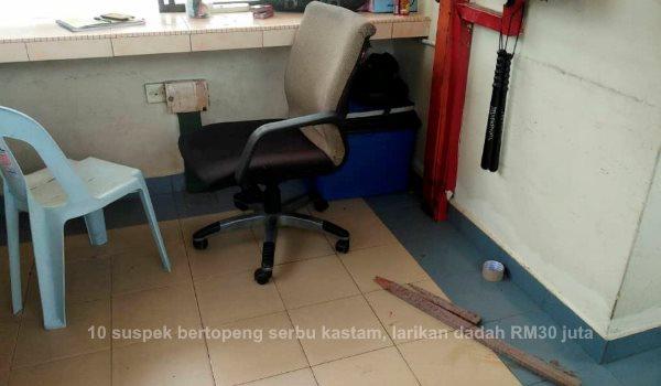 10 suspek bertopeng serbu kastam, larikan dadah RM30 juta