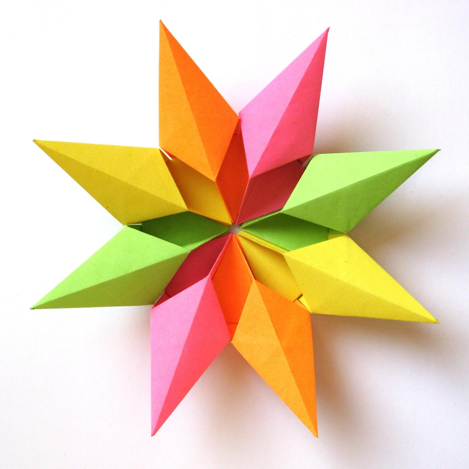 Origami Modular Stella Diamante 2