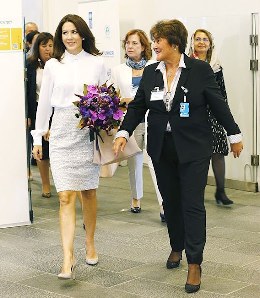 Crown Princess Mary of Denmark attended the meeting of WHO 66th regions committee, held at Copenhagen UN Office